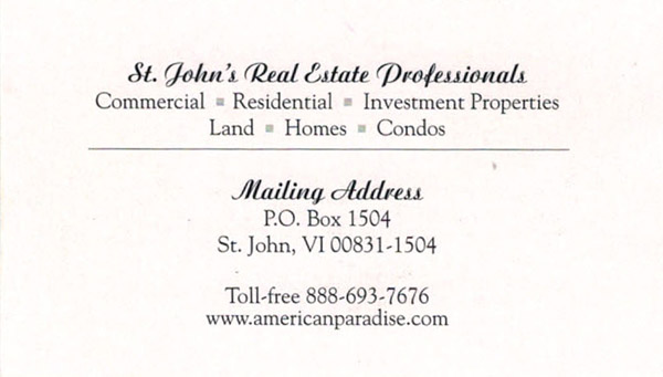 Kathy McLaughlin St John realtor and villa manager