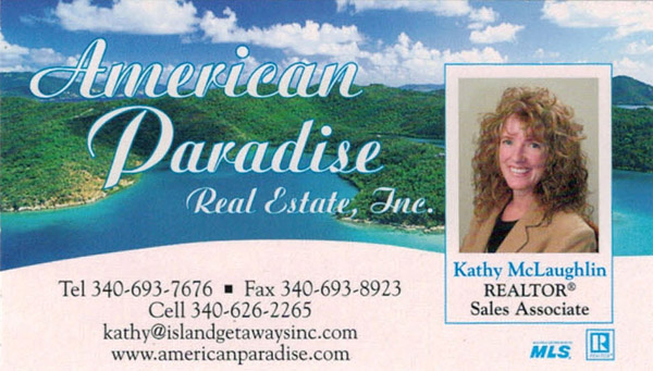 Kathy McLaughlin St John villa manager and licensed realtor
