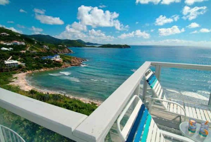 St John rental villa Oceanport view off the deck