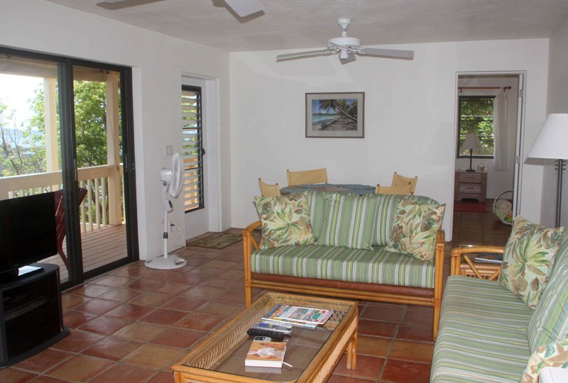 St John rental villa Waterklip living room