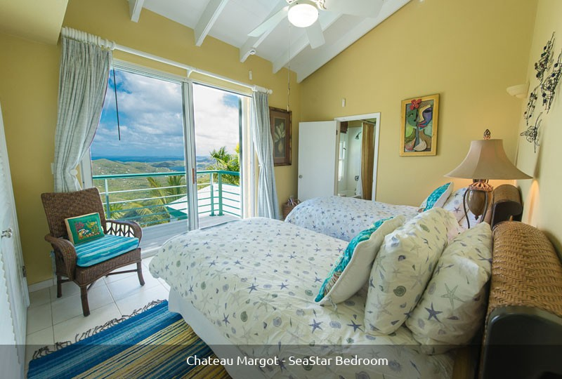 St John rental villa Chateau Margot SeaStar bedroom