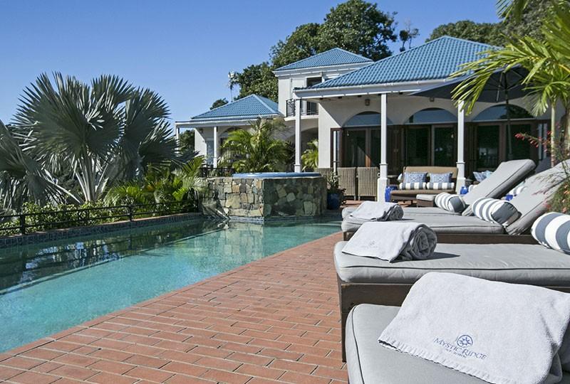 St John rental villa Mystic Ridge, St John USVI pool view