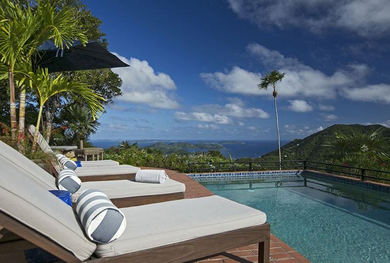 View from St John rental villa Mystic Ridge, St John USVI