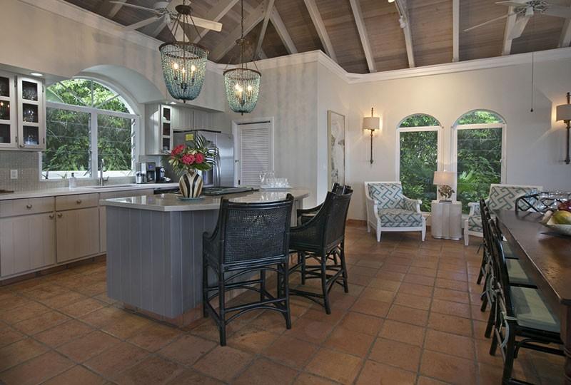 Kitchen St John rental villa Mystic Ridge, St John USVI