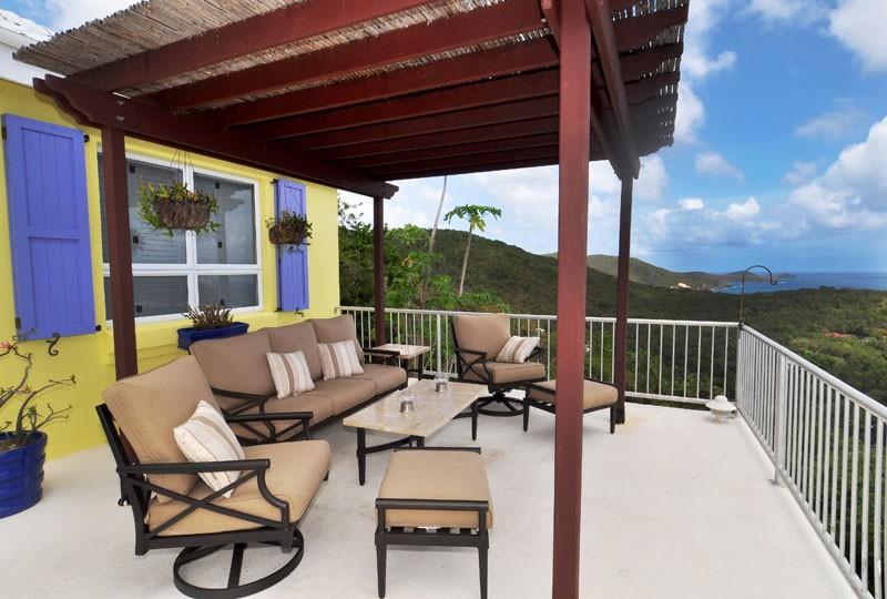 St John rental villa, Daffodil Villa cabana
