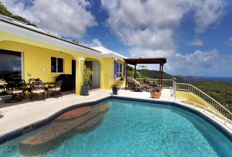 St John rental villa, Daffodil Villa pool
