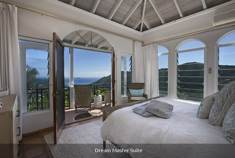 Mystic Ridge St John rental villa - Dream Master Suite bedroom view