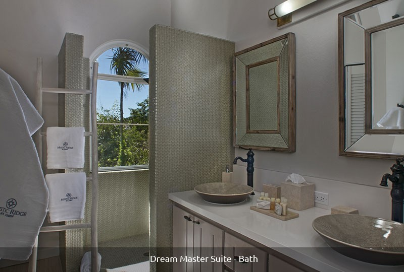 Mystic Ridge St John rental villa - Dream Master Suite bath