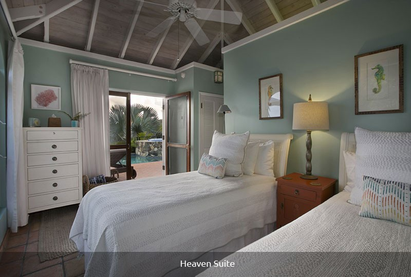 Mystic Ridge St John rental villa - Heaven Suite bedroom