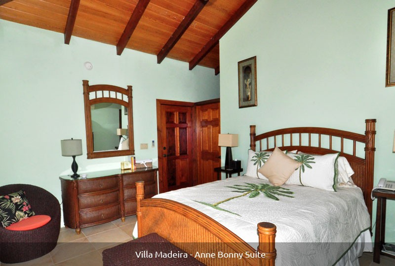 St John rental Villa Madeira - Anne Bonny Suite bed
