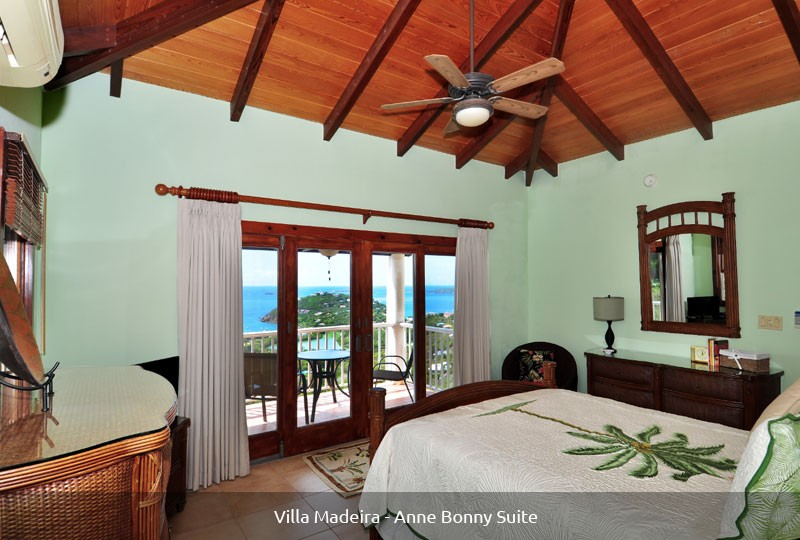 St John rental Villa Madeira - Anne Bonny Suite