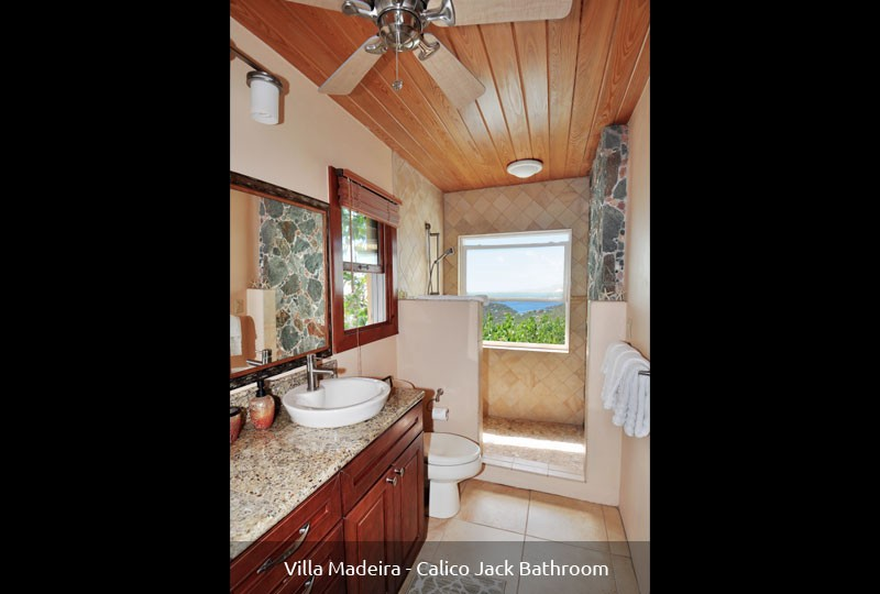 St John rental Villa Madeira - Calico Jack Suite bath