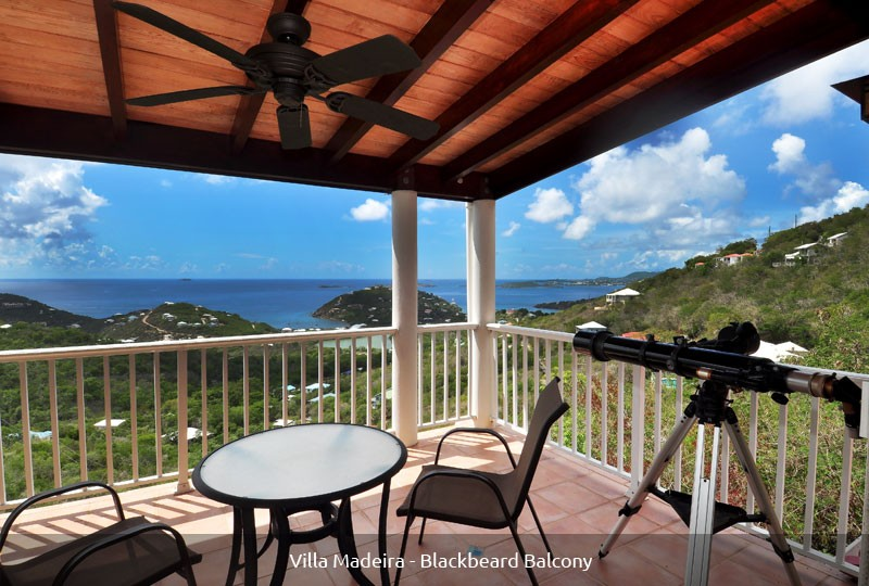 St John rental villa Madeira Blackbeard Suite balcony