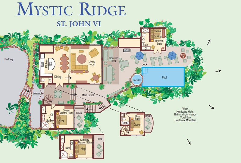 St John villa rental - Mystic Ridge floorplan
