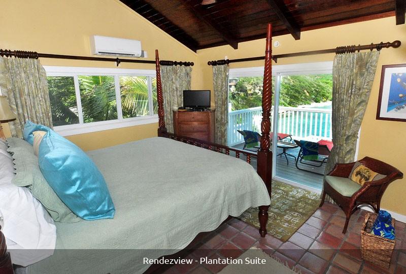 Rendezview Villa Plantation Suite and pool