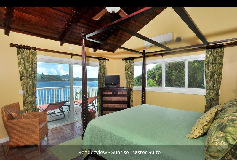Rendezview Master Suite with view of St John