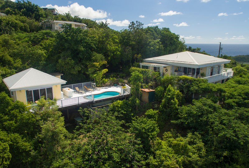 Sea Dream Villa, St John aerial view