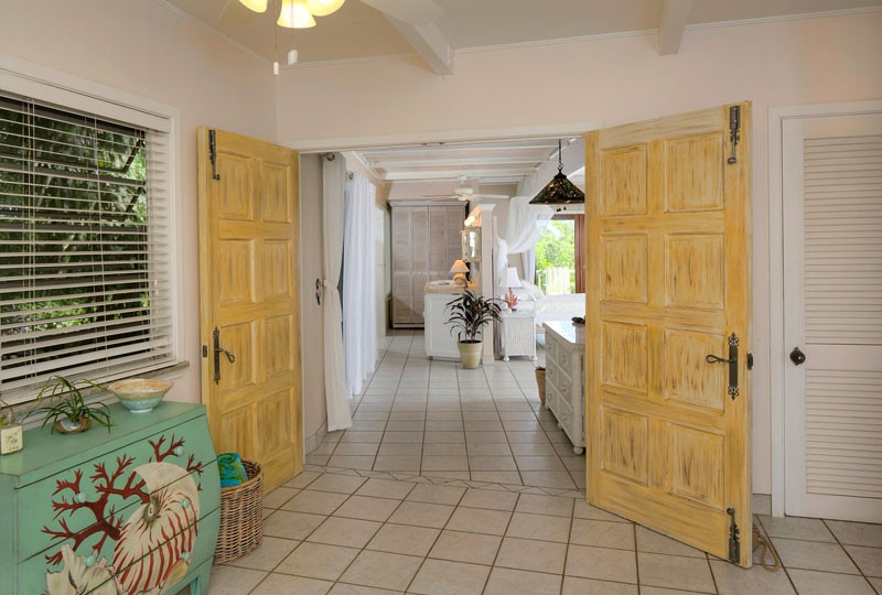 Sea Dream Villa, St John master bedroom doorway