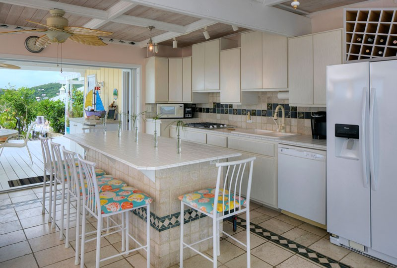 Sea Dream Villa, St John kitchen