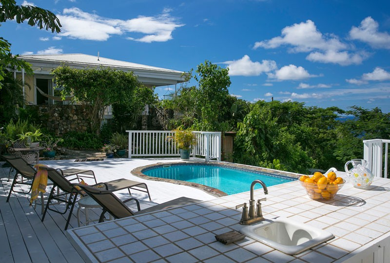 Sea Dream Villa, St John pool deck and view