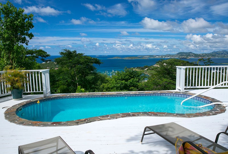 Sea Dream Villa, St John pool view