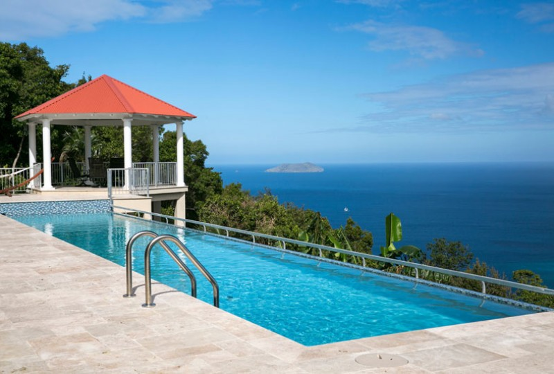 Great Escape villa pool and view