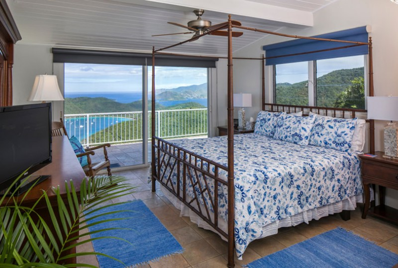 Great Escape villa blue bedroom