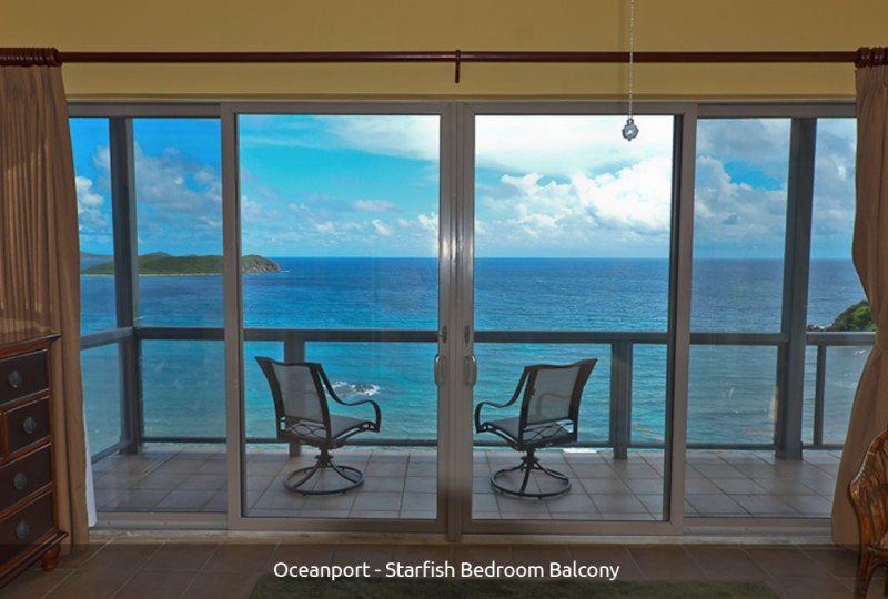 Oceanport Villa Starfsh Bedroom balcony
