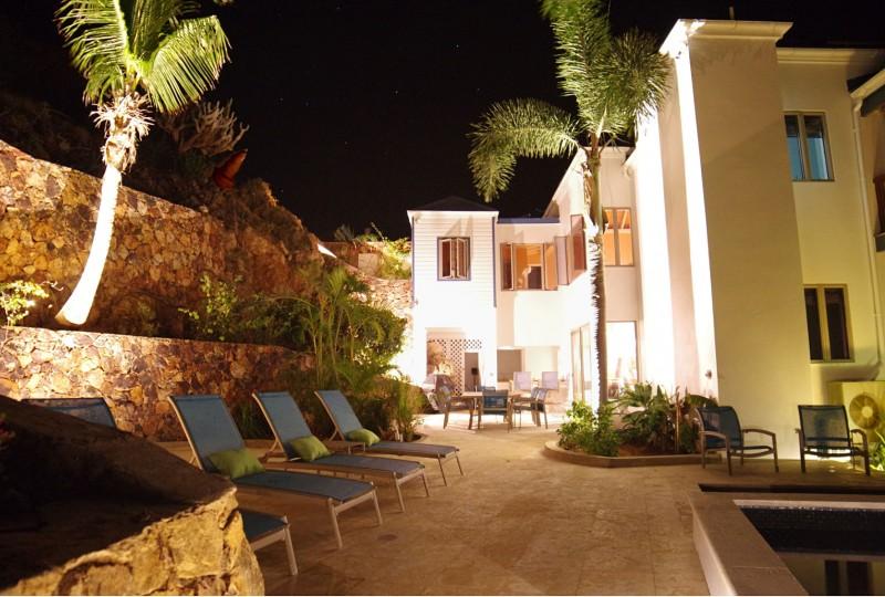 Oceanport Villa, St John night lighting