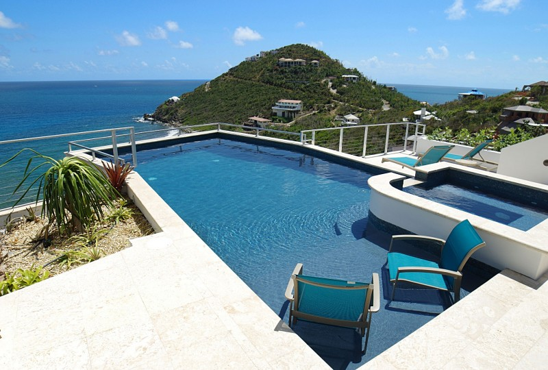 Oceanport Villa, St John pool and Hart Bay view