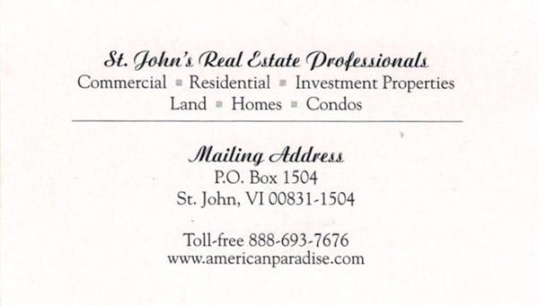 Kathy McLaughlin St John realtor and villa manager