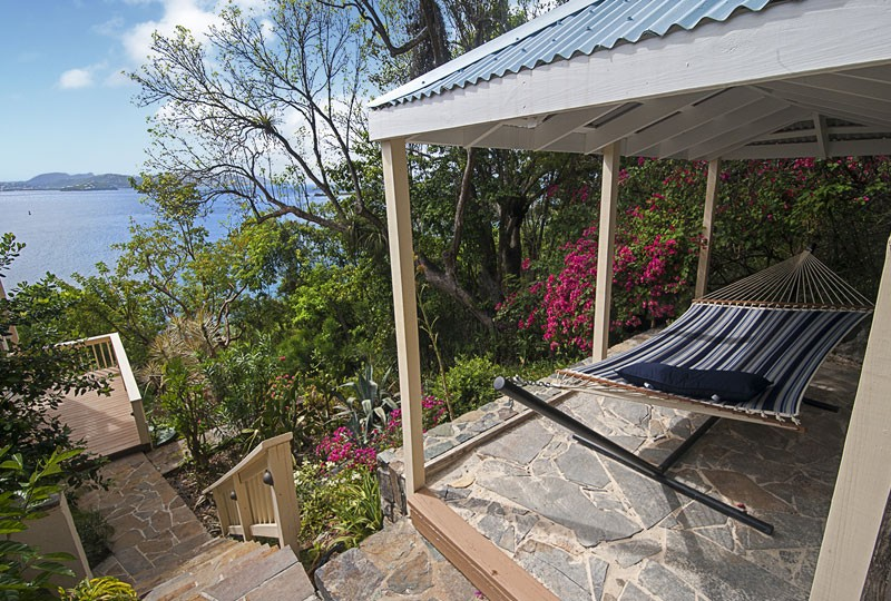 The view from the hammock at Waterklip Villa on St John, US Virgin Islands