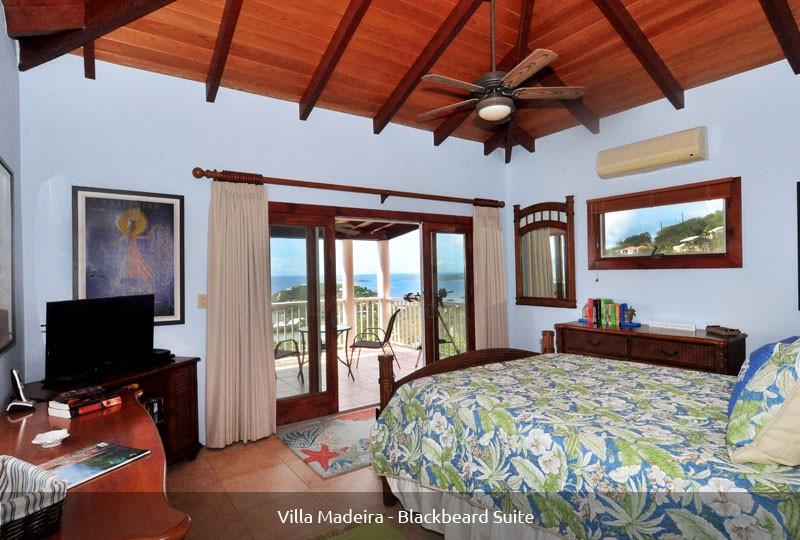 St John rental Villa Madeira - Blackbeard Suite view
