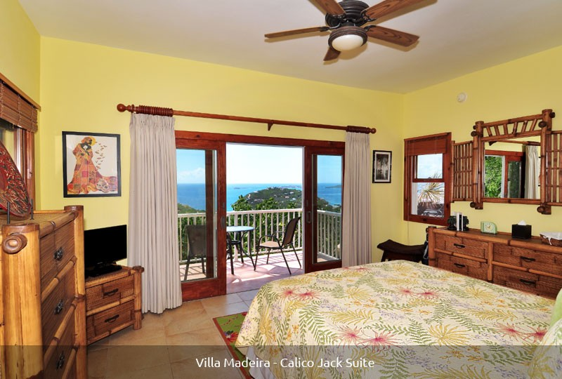 St John rental Villa Madeira - Calico Jack Suite view