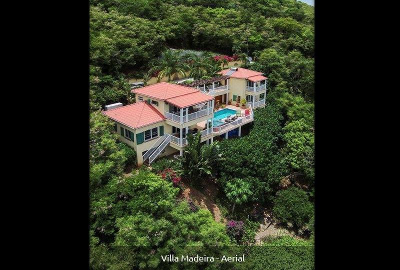 St John rental villa Madeira aerial image
