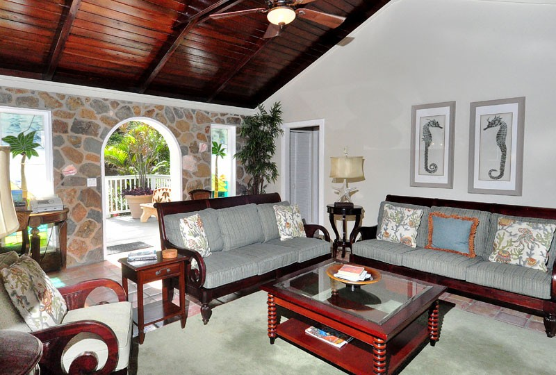 St John villa Rendezview living room and view