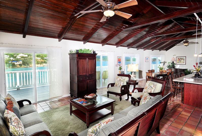 Rendezview Villa great room and view