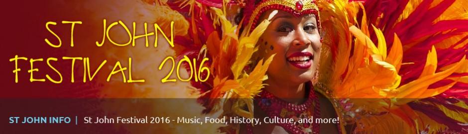 2016 St John Festival music schedule