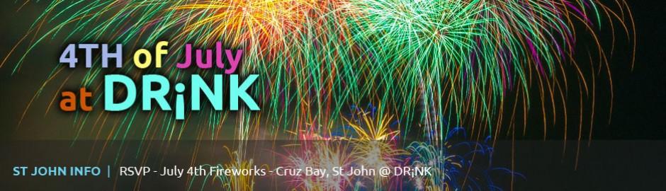 4th of July fireworks at Cruz Bay, St John, USVI