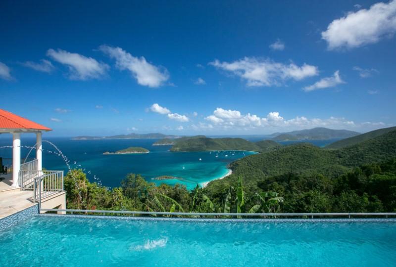 Great Escape villa pool and view