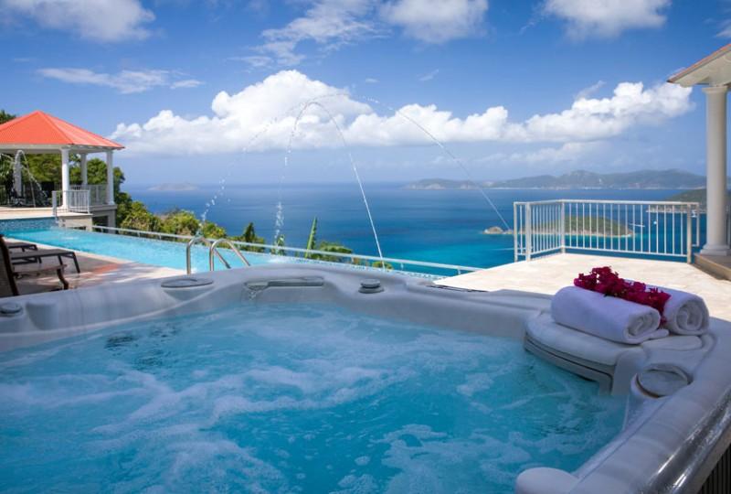 Great Escape villa spa, pool and view
