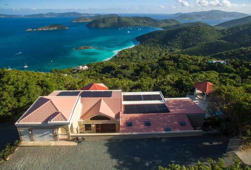 Great Escape villa aerial view
