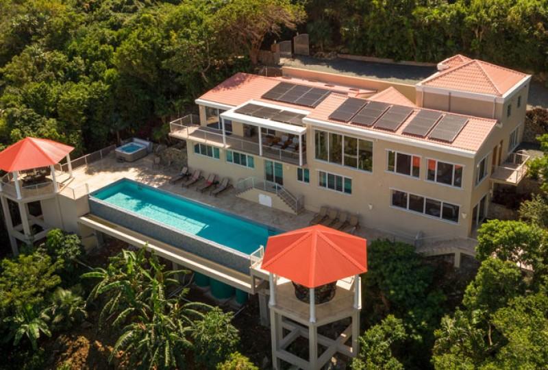 Great Escape villa aerial pool