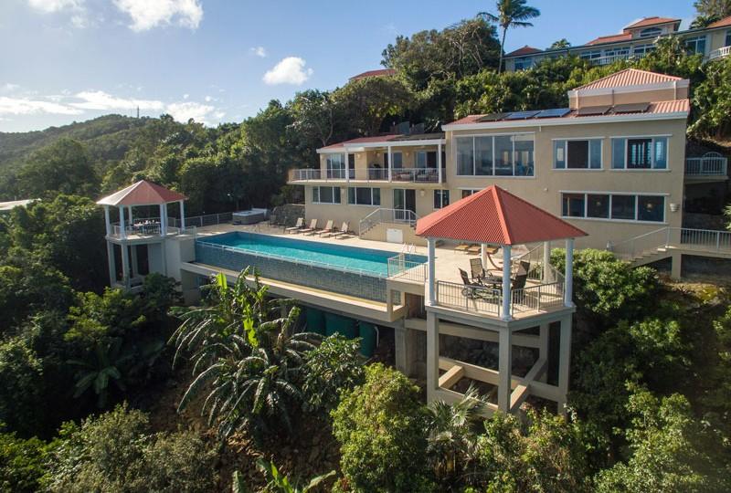 Great Escape villa aerial