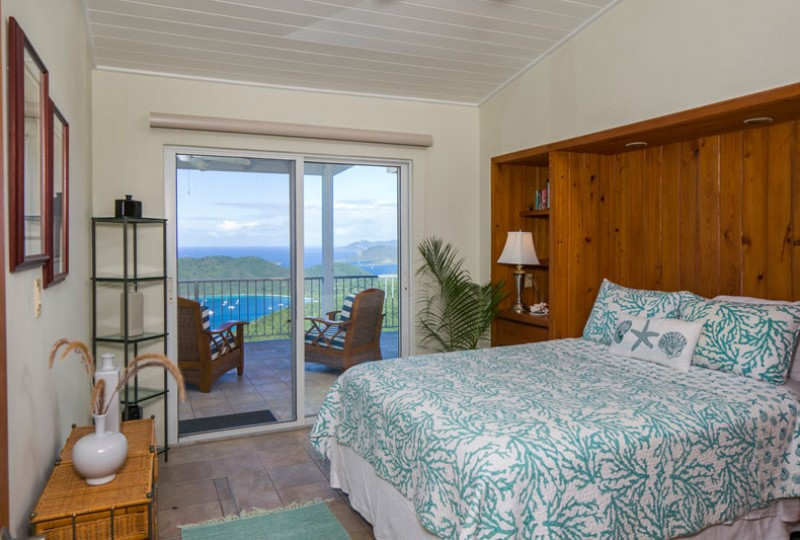 Great Escape villa aqua bedroom