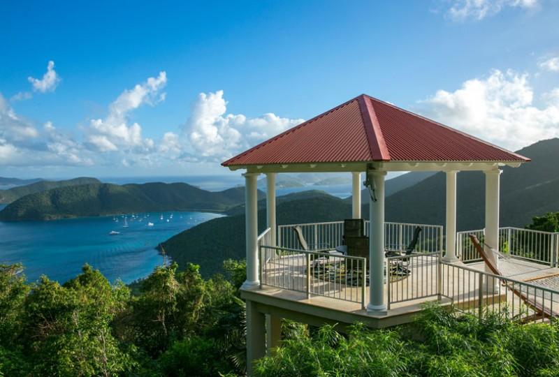 Great Escape villa gazebo view Francis Bay St John