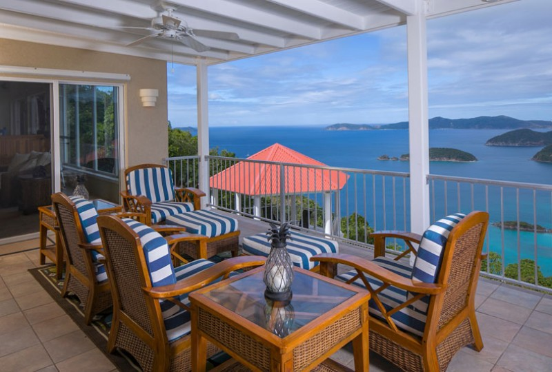 Great Escape villa patio dining and view