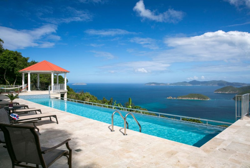 Great Escape villa pool deck