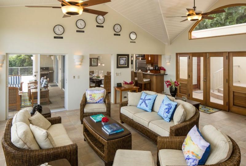 Great Escape villa great room seating