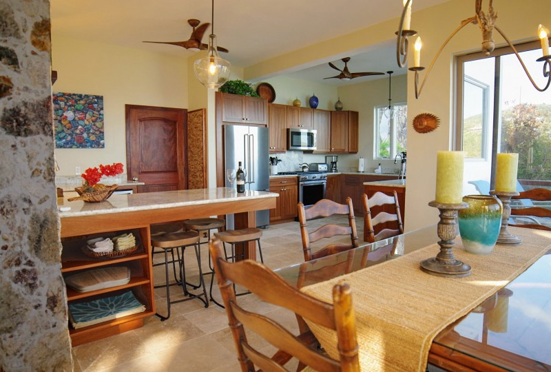 Oceanport Villa, St John kitchen